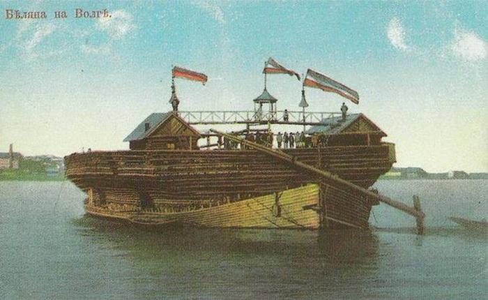 Беляны - гигантские деревянные корабли, ходившие по Волге в 19 веке